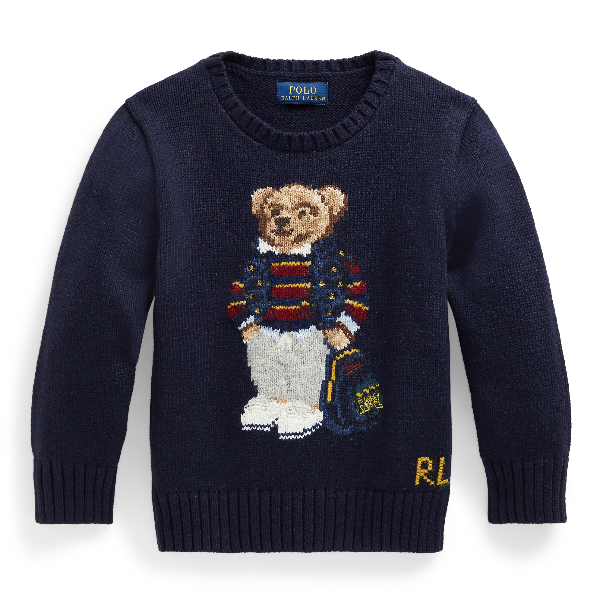 Ralph Lauren Polo Bear Cotton-Blend Sweater