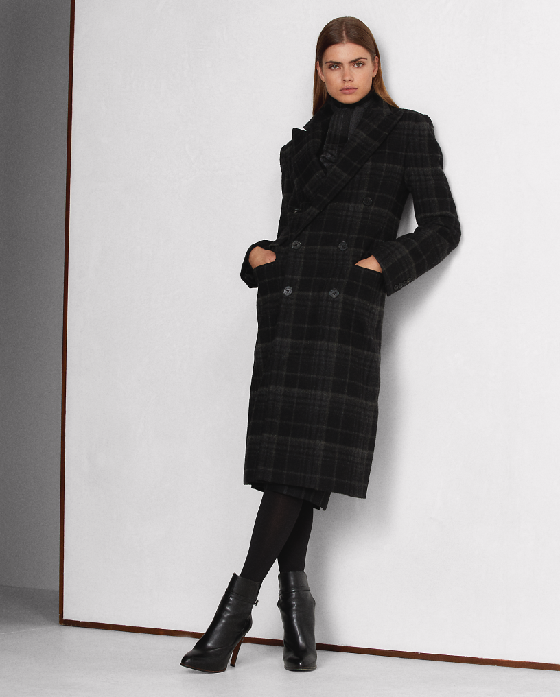 Rosetta Lambswool-Cashmere Plaid Coat