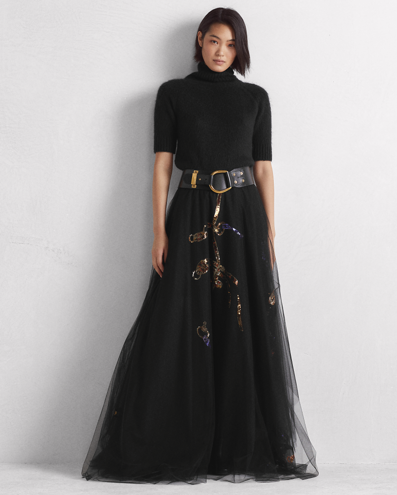 Sonnet Sequined Tulle Skirt