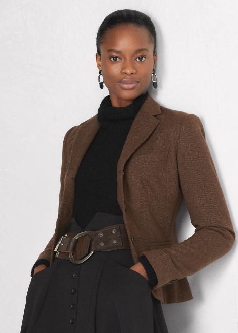 Ralph Lauren Dallas Lambswool-Cashmere Tweed Jacket