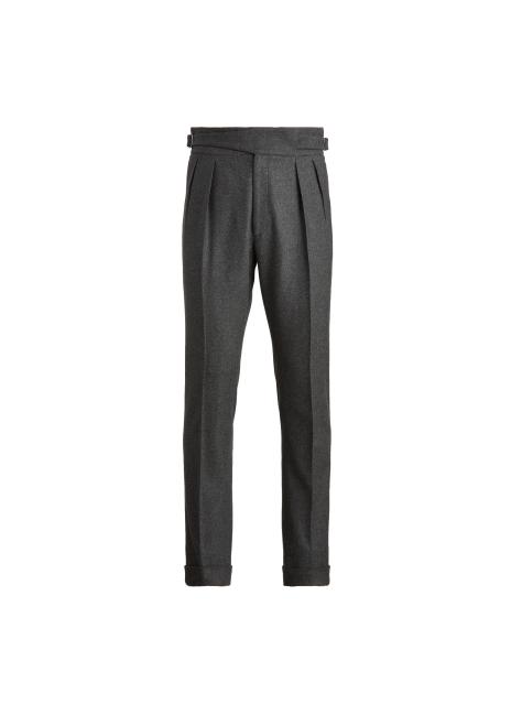 Ralph Lauren Buckled Wool Flannel Trouser