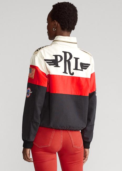 Ralph Lauren Cotton Graphic Bomber Jacket