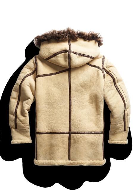 Ralph Lauren Shearling Hooded Coat