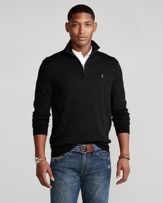 Ralph Lauren Merino Quarter-Zip Sweater