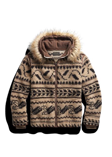 Ralph Lauren Faux Fur-Trim Fleece Hoodie