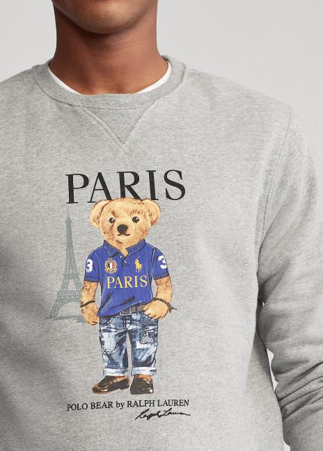 Ralph Lauren Paris Bear Fleece Sweatshirt