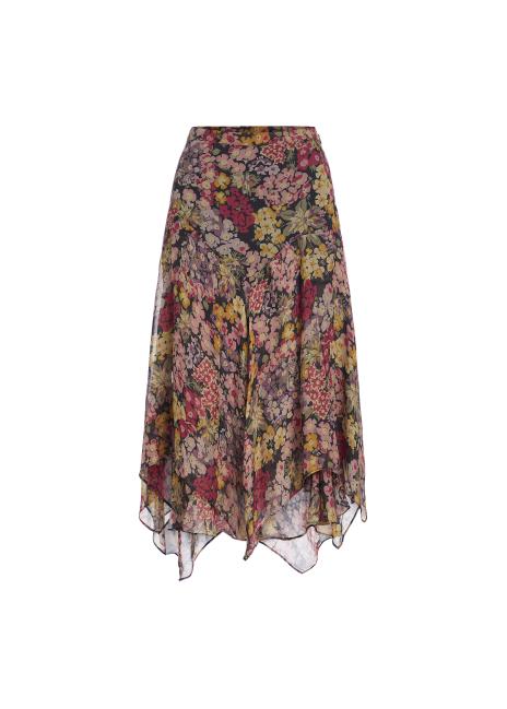 Ralph Lauren Floral-Print Handkerchief Skirt