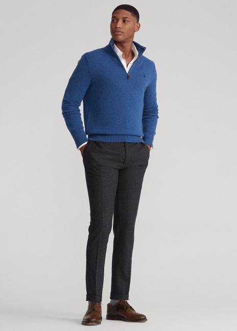 Ralph Lauren Wool-Cashmere Quarter-Zip Sweater