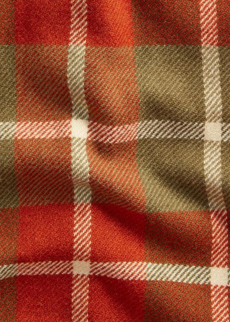 Ralph Lauren Leather-Elbow Plaid Wool Overshirt