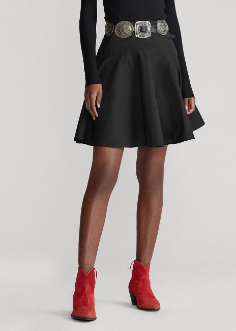Ralph Lauren Cotton Broadcloth Skirt