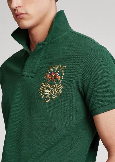 Ralph Lauren Custom Slim Fit Triple-Pony Polo Shirt