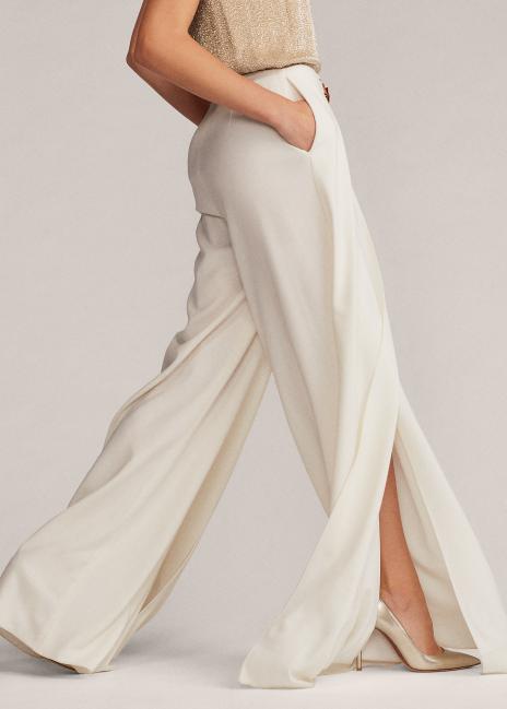 Ralph Lauren Kimberly Wool Crepe Pant
