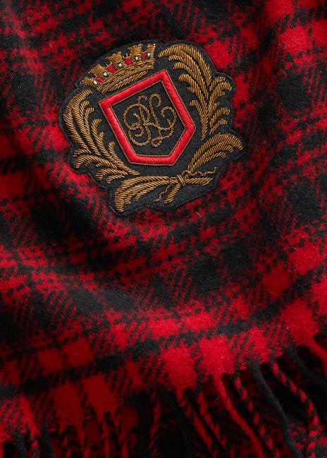Ralph Lauren Plaid Wool Scarf