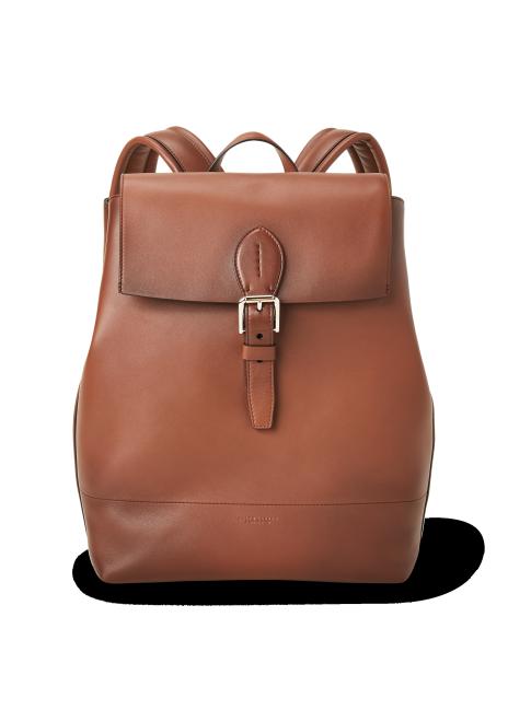 Ralph Lauren Burnished Calfskin Voyager Backpack