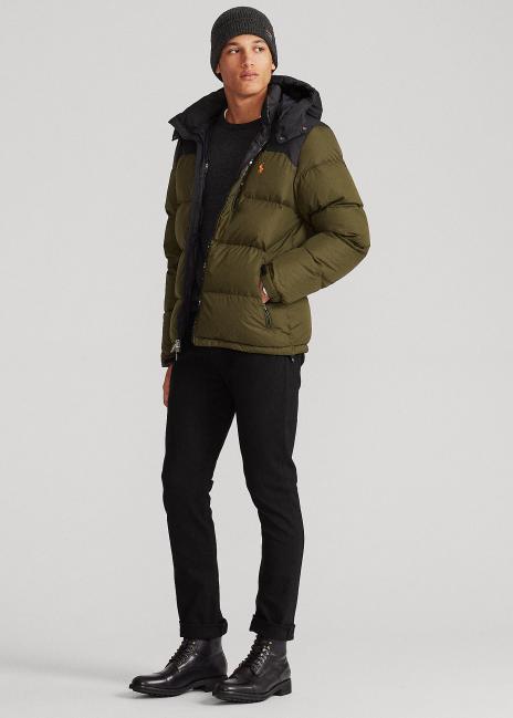 Ralph Lauren Color-Blocked Down Jacket