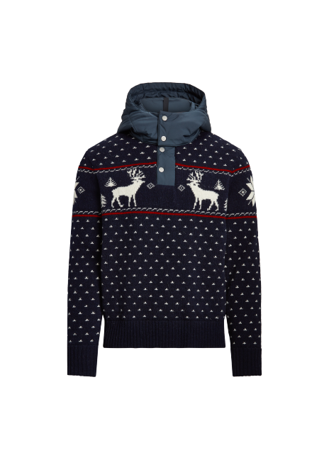 Ralph Lauren Reindeer Hybrid Hooded Sweater