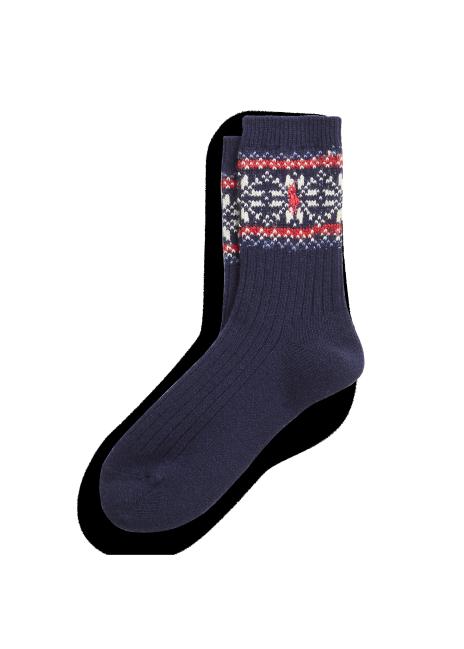 Ralph Lauren Wool-Blend Ribbed Crew Socks