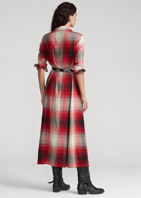 Ralph Lauren Plaid Belted Dress