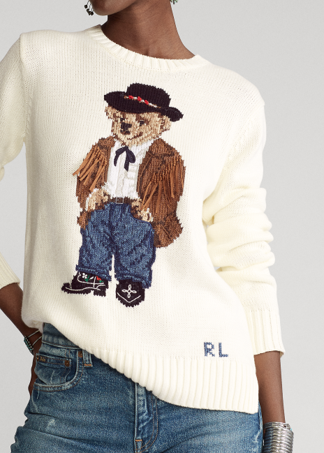 Ralph Lauren Cowboy Polo Bear Sweater