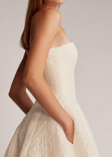 Ralph Lauren Fern Ruched Organza Dress