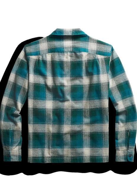 Ralph Lauren Plaid Brushed Camp Shirt