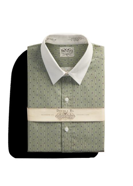 Ralph Lauren Slim Fit Contrast-Collar Shirt