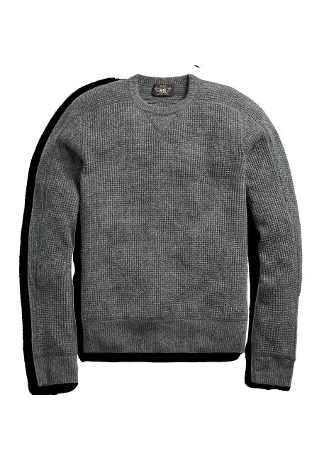 Ralph Lauren Waffle-Knit Cashmere Sweater