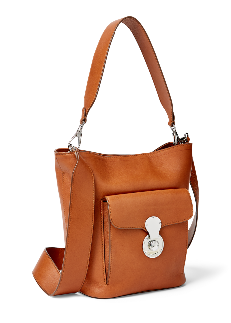 Ralph Lauren Calfskin Mini RL Bucket Bag