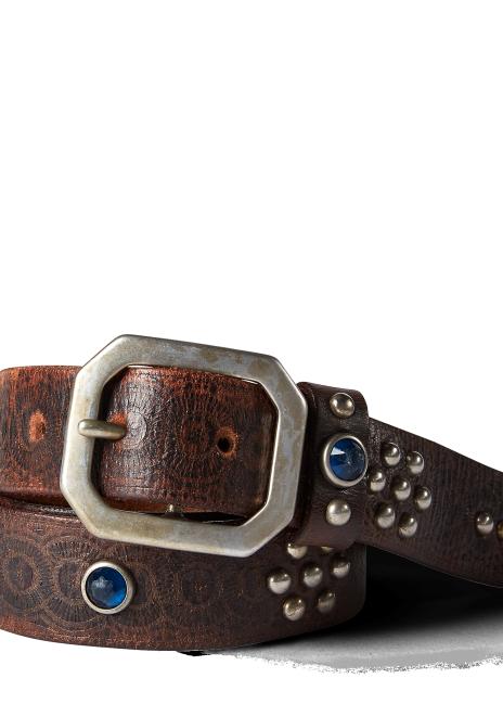 Ralph Lauren Rasco Studded Leather Belt
