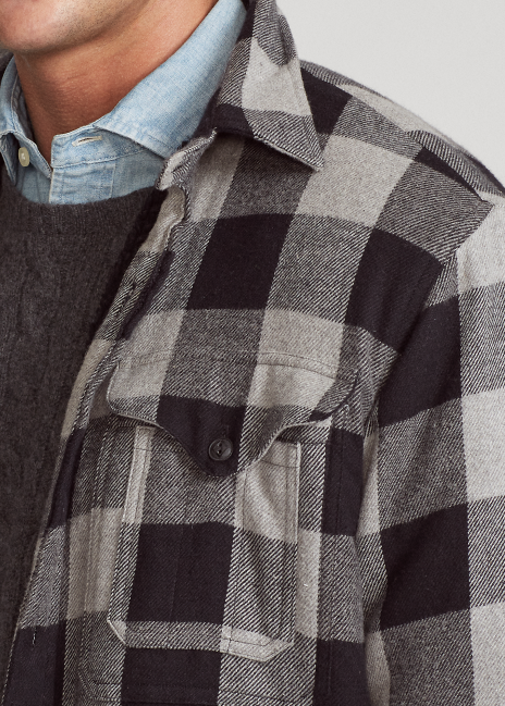 Ralph Lauren Classic Fit Fleece-Lined Overshirt