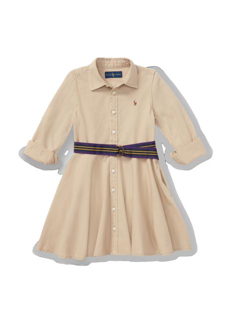 Ralph Lauren Belted Cotton Chino Shirtdress