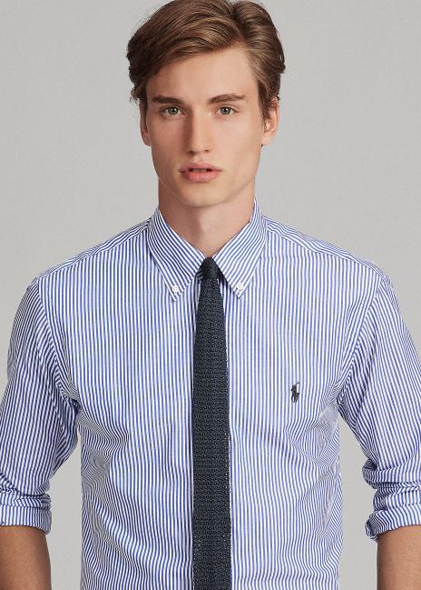 Ralph Lauren Classic Fit Striped Poplin Shirt