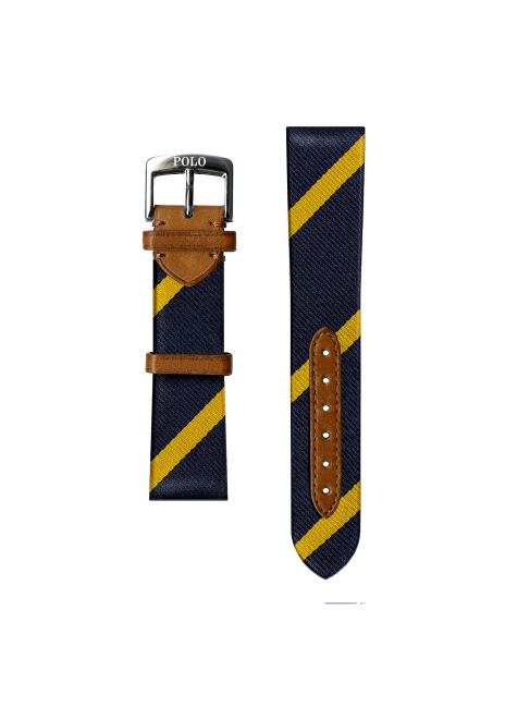 Ralph Lauren Bar-Stripe Silk Watch Strap