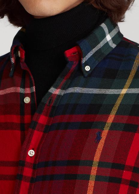 Ralph Lauren Classic Fit Plaid Flannel Shirt