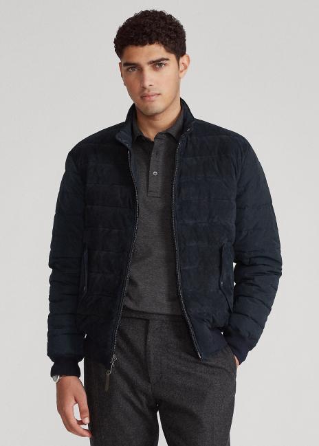 Ralph Lauren Quilted Suede Jacket