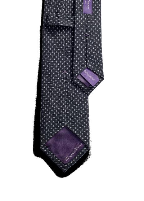 Ralph Lauren Diamond-Pattern Cashmere-Silk Tie