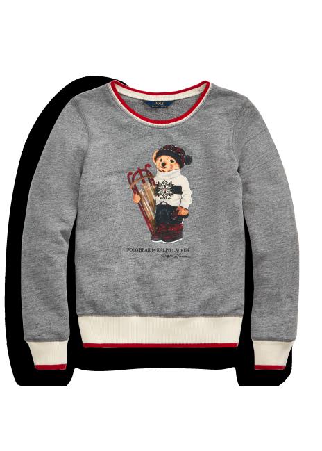 Ralph Lauren Sled Bear Atlantic Terry Sweatshirt