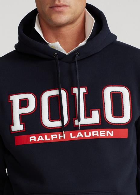 Ralph Lauren Fleece-Lined Double-Knit Hoodie