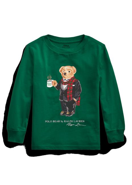 Ralph Lauren Coffee Bear Cotton Jersey Tee