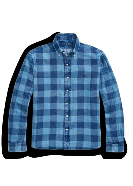 Ralph Lauren Classic Fit Plaid Double-Faced Shirt