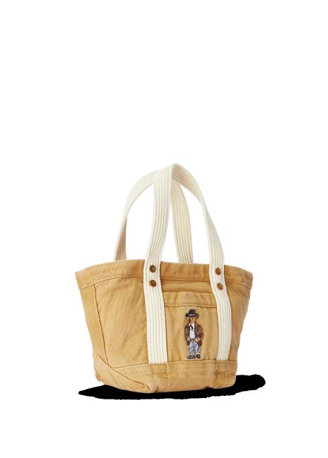Ralph Lauren Bear Canvas Mini Tote Bag