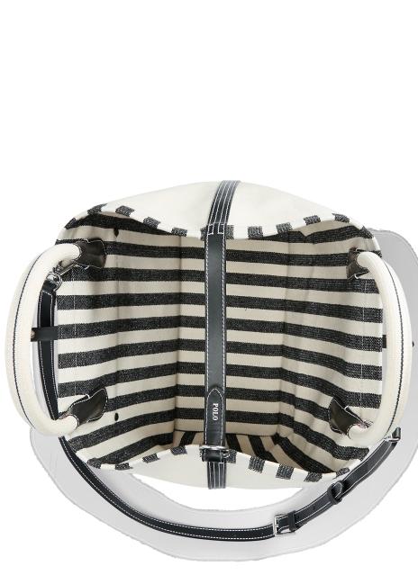 Ralph Lauren Reversible Striped Medium Tote