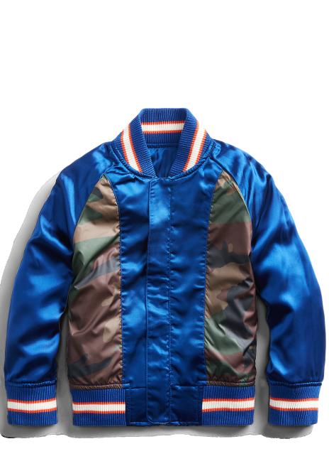 Ralph Lauren Satin Souvenir Baseball Jacket