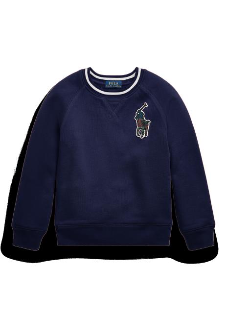 Ralph Lauren Plaid Big Pony Fleece Sweatshirt