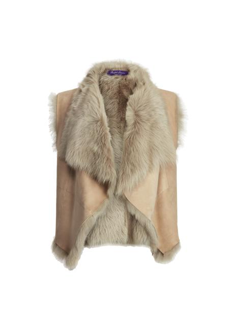 Ralph Lauren Cassie Shearling Vest
