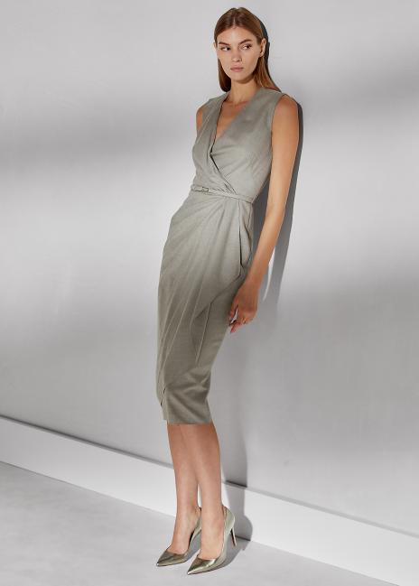 Ralph Lauren Adriana Wool Flannel Dress