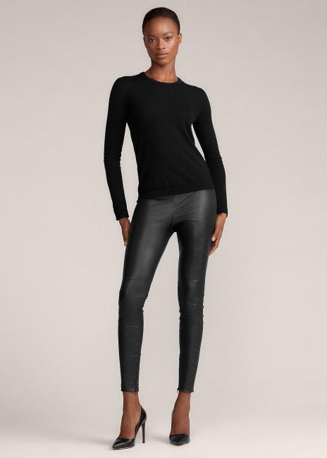 Ralph Lauren Eleanora Stretch Leather Pant