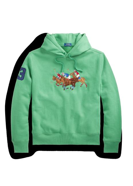 Ralph Lauren Triple-Pony Fleece Hoodie