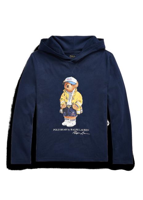 Ralph Lauren CP-93 Polo Bear Cotton Hooded Tee
