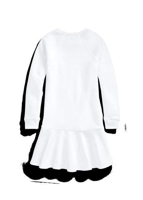 Ralph Lauren Cotton-Blend-Fleece Graphic Dress